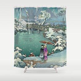 Ukiyo-e: Yuri on Ice Shower Curtain