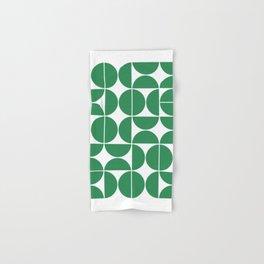 Mid Century Modern Geometric 04 Green Hand & Bath Towel