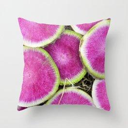 Watermelon Radish Throw Pillow