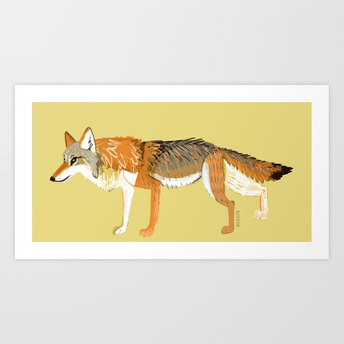 Wolves of the World: Canis lupus chanco (c) 2017 Art Print