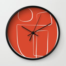 Sunny red line abstract Wall Clock
