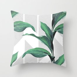 Greenhouse -jungle Throw Pillow