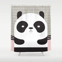 Angry Panda Shower Curtain