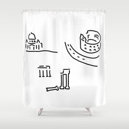 Rome kolloseum Peter's cathedral forum Shower Curtain