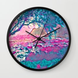 Fantasy Islands 2 Wall Clock