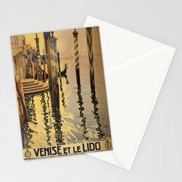 Vintage Travel Poster - Venise et le Lido - Vintage Italy Travel Poster Stationery Cards