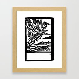 Headdress Blockprint Framed Art Print