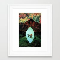tame impala Framed Art Prints featuring impala by Hugo Barros