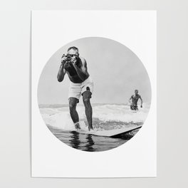 The Surfing Photographer Poster