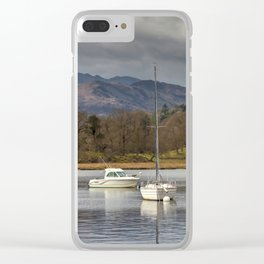 Windermere lakes and boats landscape Clear iPhone Case