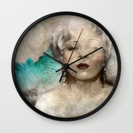 Mae West portrait Wall Clock
