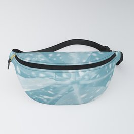 Spotted Leaves. nature, blue, white, decor, art, leaves, leaf, society6 Fanny Pack