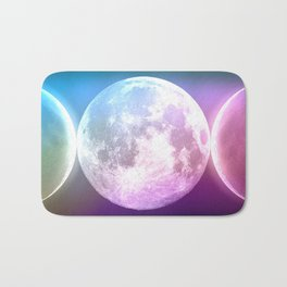 Moon Triple Goddess Rainbow Bath Mat