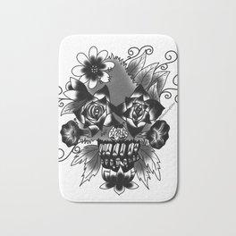 Floral Skull Bath Mat