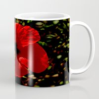 hibiscus Mugs featuring Hibiscus by Armine Nersisian