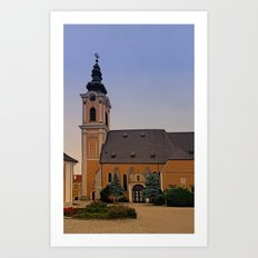 The village church of Scharten III | architectural photography Art Print