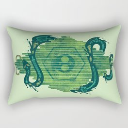 Green is the Color of Death Rectangular Pillow