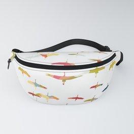 Sand Hill Cranes in multicolor - flock of birds Fanny Pack