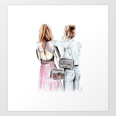 Street style girls Art Print