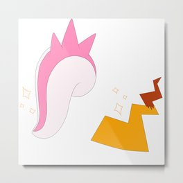 Sparkly Cute Monster Tails Metal Print
