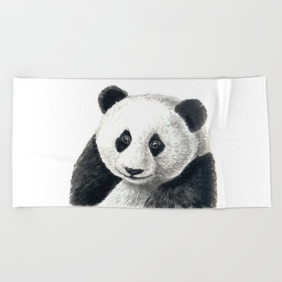 Panda bear Beach Towel