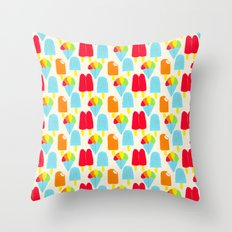 Hypersaturated Summer Treats Throw Pillow