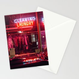 Neon Night Sign Stationery Cards
