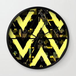 Golden abstract chevron Wall Clock