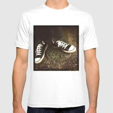 When they were made in the USA MEDIUM White Mens Fitted Tee