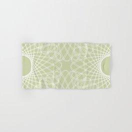 mathematical rotating roses - powder green Hand & Bath Towel