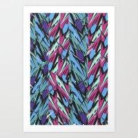 Dazzle pinkripcurl Art Print