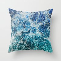 mineral Throw Pillows featuring MINERAL MAGIC by Catspaws