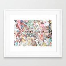 Orlando map landscape Framed Art Print