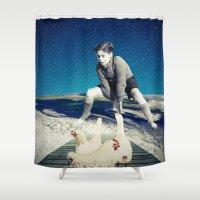 chicken Shower Curtains featuring Chicken by Cs025