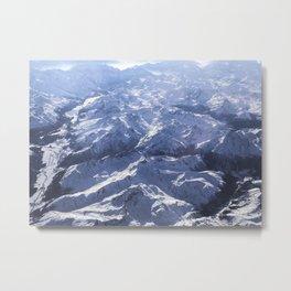 White mountains with snow winter nature Metal Print
