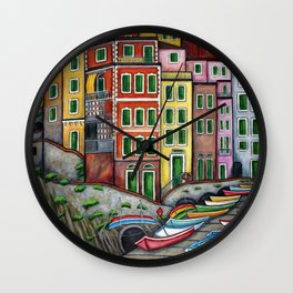 Colours of Riomaggiore Wall Clock