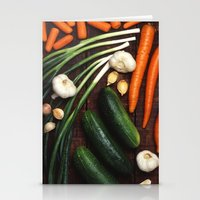 vegetables Stationery Cards featuring Healthy Vegetables  by BravuraMedia
