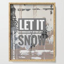 Snowfall - let it snow Serving Tray