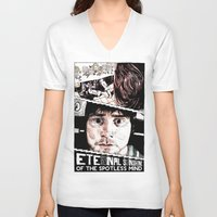 eternal sunshine of the spotless mind V-neck T-shirts featuring Eternal Sunshine of the Spotless Mind by Aaron Bir by Aaron Bir