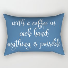 Funny Coffee Sayings Rectangular Pillow