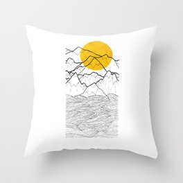 The cliff waves Throw Pillow