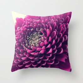 Purple Germini Closeup 1 Throw Pillow