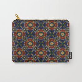 Orange Blue Circular Spinners Carry-All Pouch