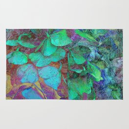450 3 Abstract Hydrangea Rug