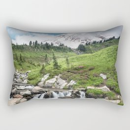 Mt. Rainier, Edith Creek Rectangular Pillow
