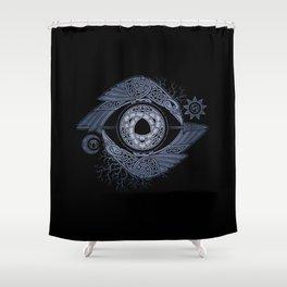 ODIN'S EYE Shower Curtain