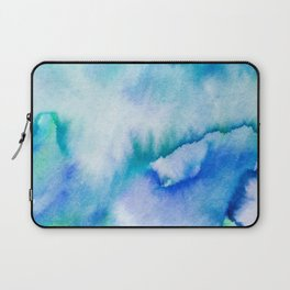 Watercolor texture - blue and turquoise Laptop Sleeve