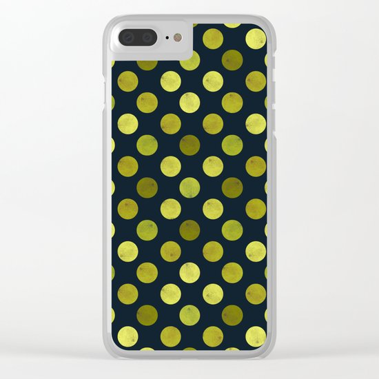 Watercolor Dots Pattern V Clear iPhone Case
