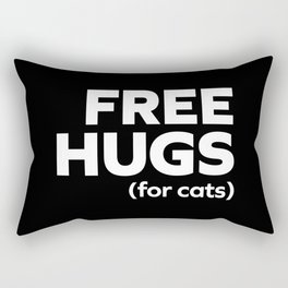Free Hugs Cats Funny Quote Rectangular Pillow