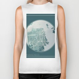 San Francisco Map Planet Biker Tank